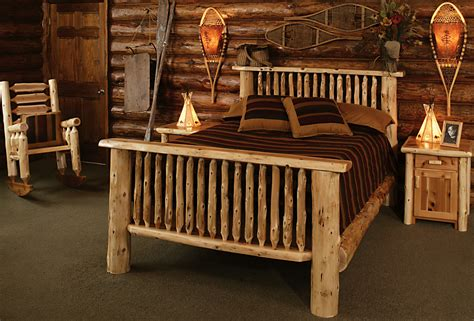 log cabin bedroom furniture montana bed rustic furniture mall by timber creek
