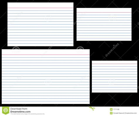 lined note cards template index cards stock vector illustration of stationery