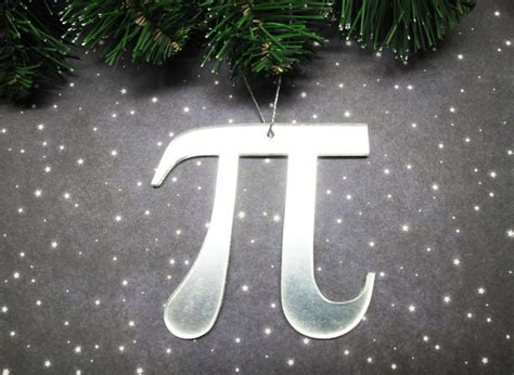 pi christmas tree ornament math symbol pie geek science