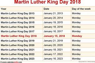 Calendar 2018 Martin Luther King Day When Is Martin Luther King Day 2018 2019
