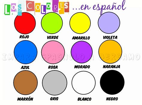 los colores spanish for tourism clase 7 medrar cultural services