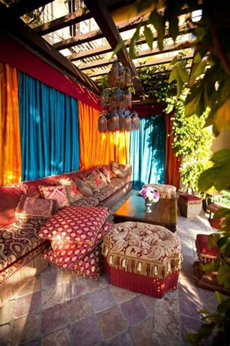 Colorful Garden Decor 20 Moroccan Style House With Outdoor Spaces Home Design And Interior