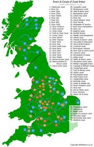 names of rivers map of british waterways canals and rivers withnature co uk regal maps pinterest british
