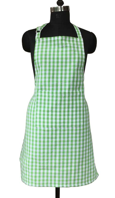Kitchen Collection Aprons Lushomes Check Cotton Unisex Kitchen Cooking Chef Apron