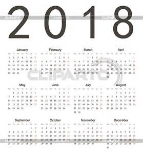 Calendar 2018 Europe Stock Images By Julvil Photos Illustrations