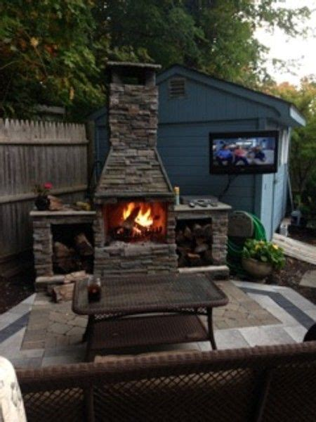 pergola  fireplace images  pinterest outdoor fireplaces backyard ideas