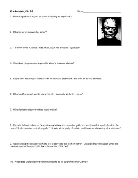 themes in frankenstein worksheet 17 worksheets numbers esl frankenstein worksheets