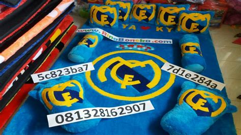 karpet real madrid model karpet kasur karakter bola