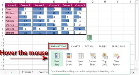 quick layout excel 2013 quick analysis excel 2013