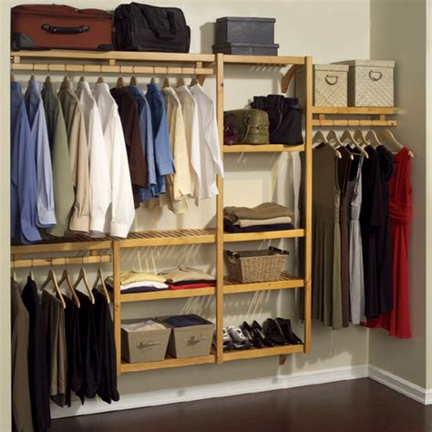 louis home wood hanging closet organizer system from