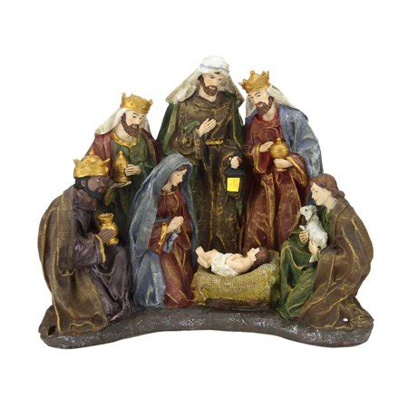 target nativity scene decorations 13 quot battery operated lighted religious nativity table top decoration walmart