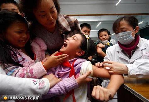 china film university image piqure enfant chine choc