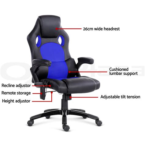 recliner computer 8 point massage office chair racing executive heat