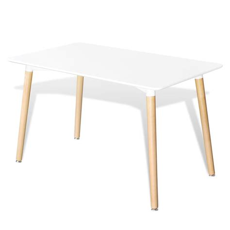 Vidaxl Co Uk Matte White Rectangular Dining Table White Rectangle Dining Table