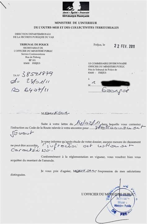 Exemple De Lettre Tresor Amende Exemple Lettre Contestation Pv