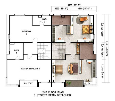 single storey semi detached house floor plan semi detached house plans