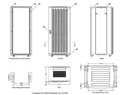 Rack Sizes Standard by 42u Rack Cabinet Dimensions Cabinets Matttroy
