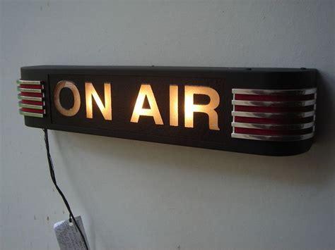 radio on air light on air light red black green light nbc art deco 1950