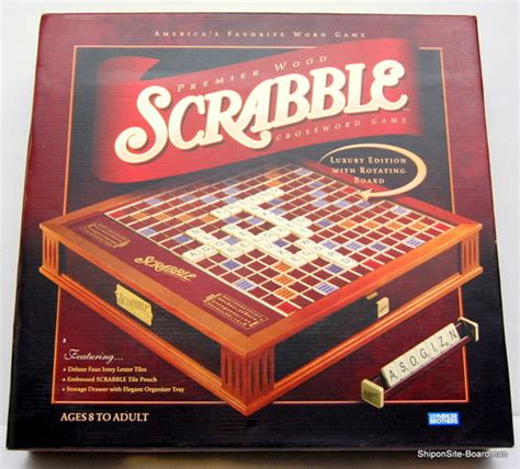 scrabble deluxe wooden edition new scrabble deluxe premier wood edition w rotating