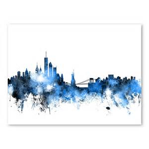 new york skyline wall mural wayfair new york skyline landscape wall mural 366 x 127 cm