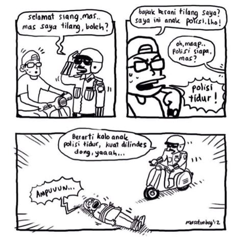 anak polisi gambar kata kata lucu