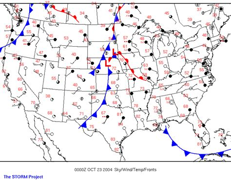 weather map of us with fronts the project curriculum development activity 5