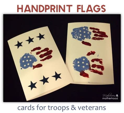 printable christmas cards for soldiers handprint flag cards for troops veterans makeovers and