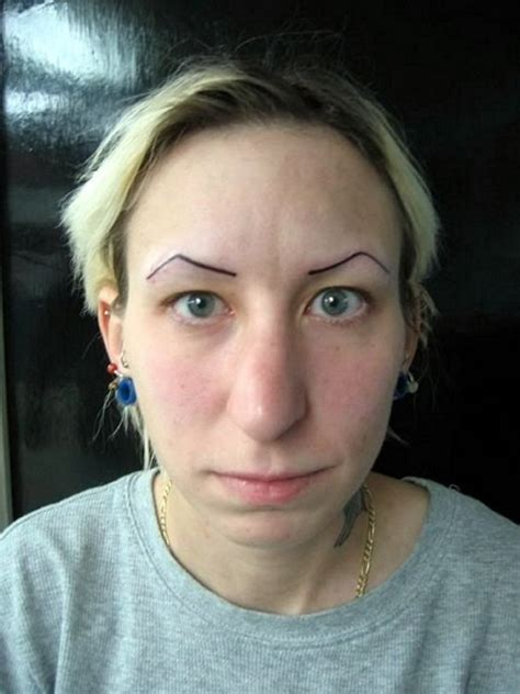 bad eyebrow tattoo really bad tattoos a collection of some of the worst