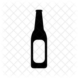 beer bottle icon  glyph style   svg png