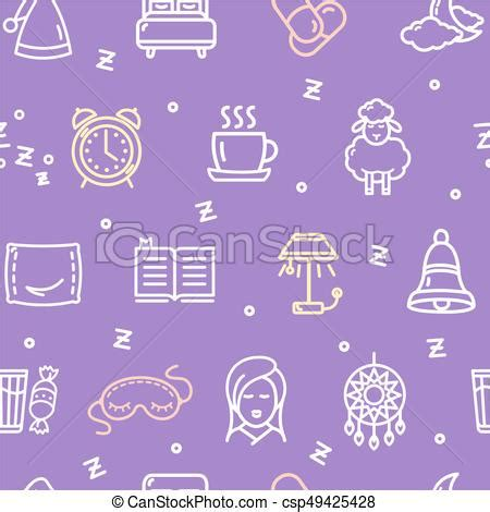 sleep pattern en espanol sleeping and insomnia pattern background concept vector