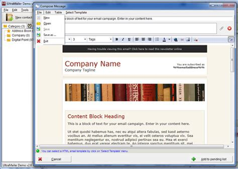 free email marketing templates for outlook ultramailer v3 4 bulk email software mass email software