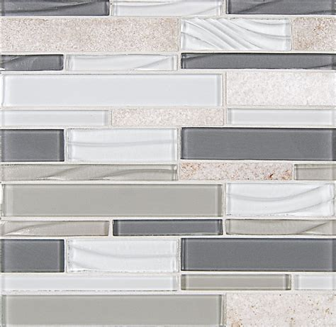 Glass Subway Tile Kitchen Backsplash Linear Glass And Slate Quartz Mosaic Tile Elume Heather
