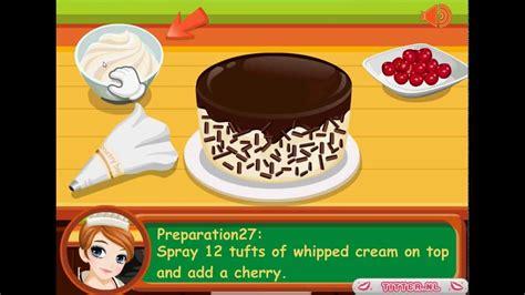 jeux de fille cuisine gratuit en fran軋is tessa fait une kirschtorte jeux gratuits de cuisine