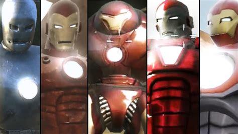iron man game suitsarmors unlocked youtube