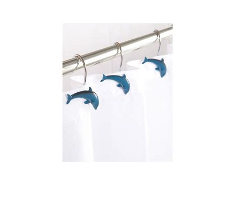 fish shower curtain hooks 12 x dolphin porpoise fish shaped shower curtain hooks