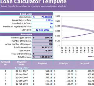 Payment Calculator Excel Template by Loan Calculator Template My Excel Templates