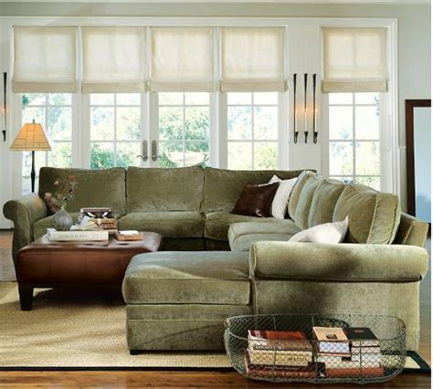 pottery barn pearce sectional sofa honey we re home our living room sectional pottery barn