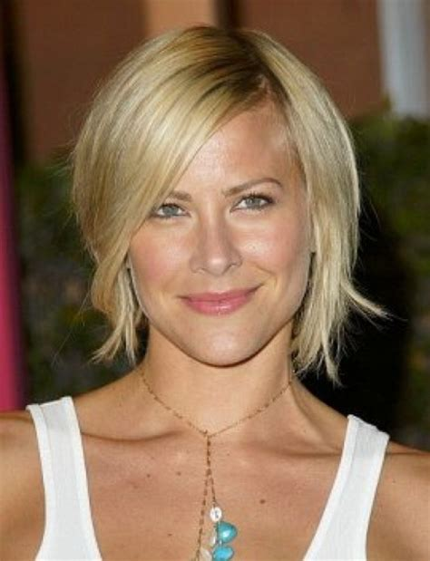 short hairstyles for women over 40 with thin fine hair and round fat face short layered hairstyles for women over 40