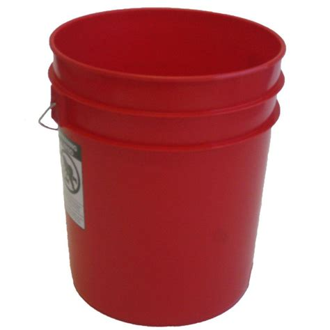 leaktite 5 gal 5gl white pail the home depot