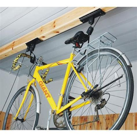Bike Rack Pulley System by Bike Pulley Hoist Racks Storage System