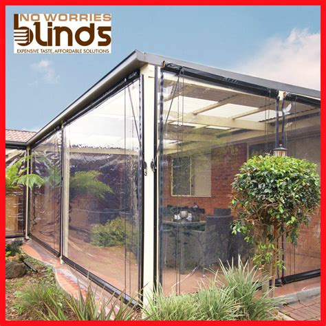 pvc patio covers new 120 x 240 clear bistro cafe blind pvc patio backyard
