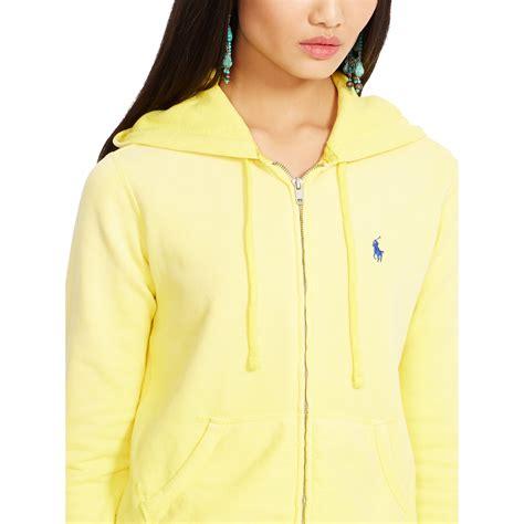 Hoodie Zipper Yellow Claw Leo Cloth ralph fleece zip up hoodie in yellow lyst