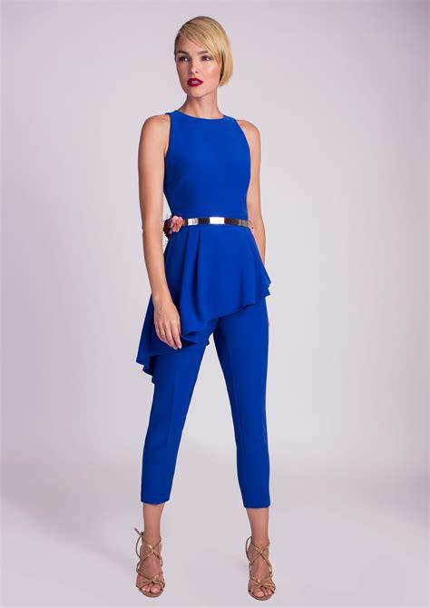 738 Jss New Jumpsuit blue special occasion jumpsuit