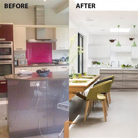 separate kitchen from living room ideas before and after from separate rooms to huge open plan