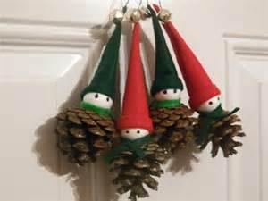christmas pine cone elf ornaments christmas by 37hawthornhill