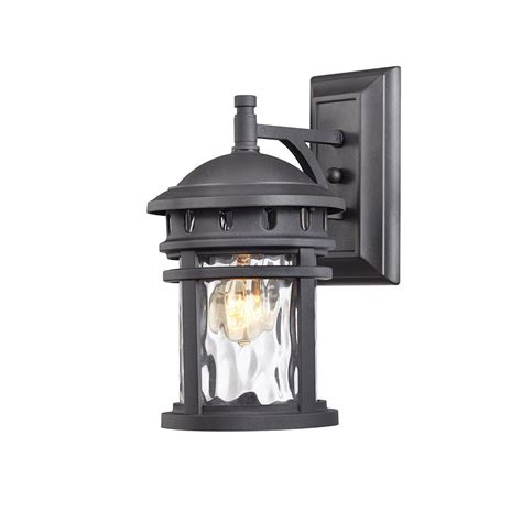 home decorators lighting home decorators collection 1 light black outdoor wall