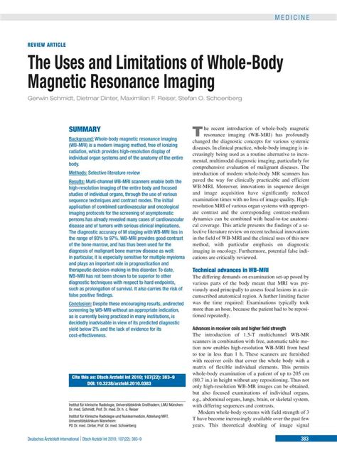 imaging and imagining illness becoming whole in a broken books the uses and limitations of whole magnetic resonance