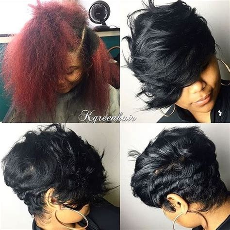 shortcut for black hair the switch up love that heavy bang dmvstylist k