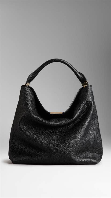Burberry Hobo Bag Premium by Lyst Burberry Medium Signature Grain Leather Hobo Bag In