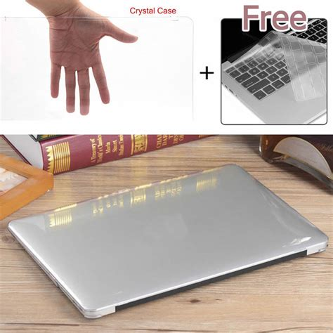 Clear Macbook 12 glossy clear plastic laptop keyboard cover for macbook air pro retina 11